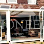 Aluminium Bi-fold door open front view