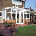 Edwardian Conservatory from looking across garden
