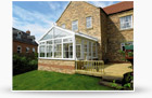 gable style conservatory house view
