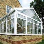 Gable conservatory exterior corner view