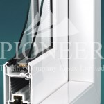 uPVC door cross section