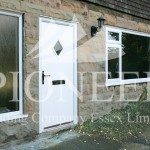 uPVC door angled view