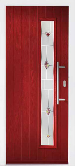Red Shardlow Composite Door