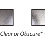 ecclesbourne clear or obscure glazing