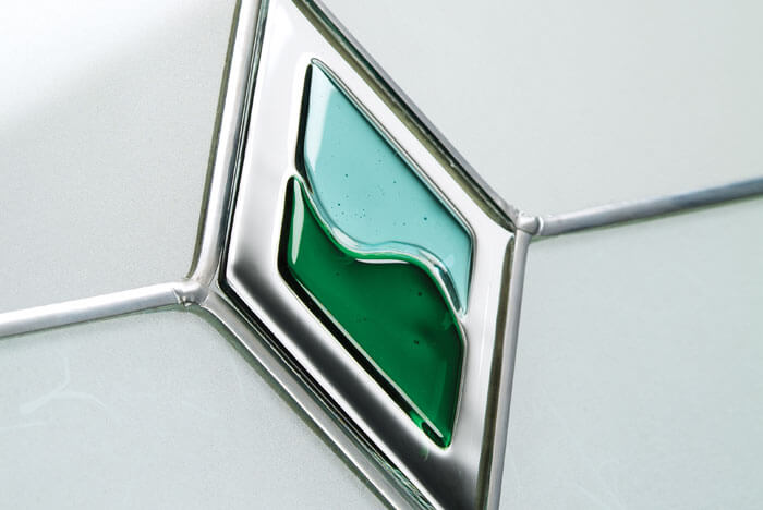 Green Diamond Decorative Glass