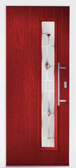 Red Shardlow Composite Door