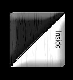 black ash on heritage white