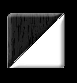 black ash white pvc