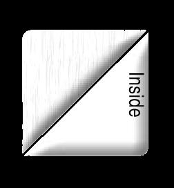white grain on white pvc