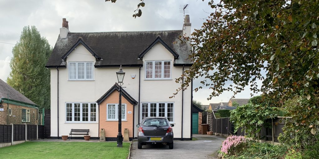 A house with timber replacement windows.
