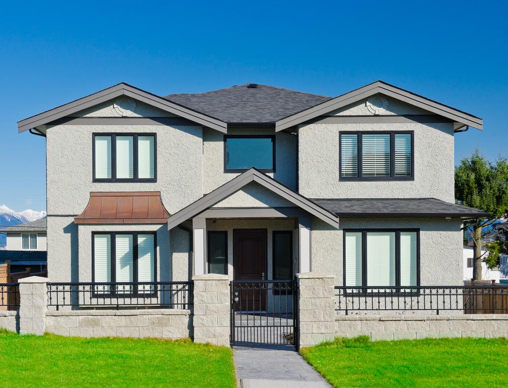 deceuninck windows in modern house